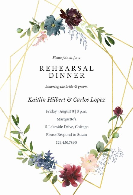 Wedding Rehearsal Dinner Invitation Template Inspirational Rehearsal Dinner Invitation Templates Free