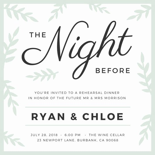 Wedding Rehearsal Dinner Invitation Template New Customize 411 Rehearsal Dinner Invitation Templates
