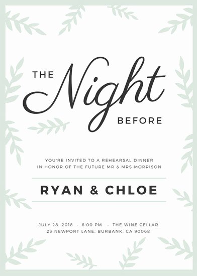 Wedding Rehearsal Dinner Invitation Template Unique Customize 411 Rehearsal Dinner Invitation Templates