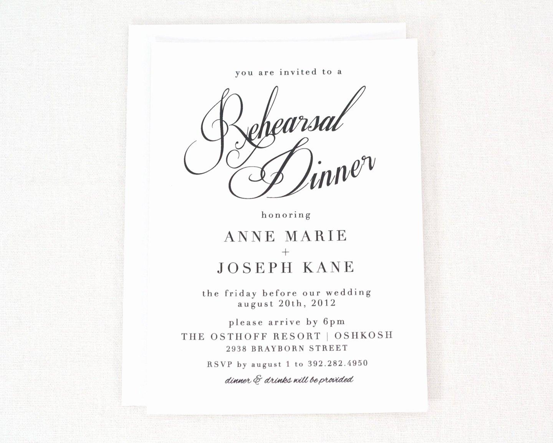 Wedding Rehearsal Dinner Invitations Template Beautiful Free Rehearsal Dinner Invitation Templates Printable