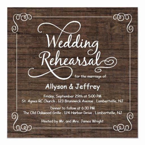 Wedding Rehearsal Dinner Invitations Template Elegant Rustic Wood Wedding Rehearsal Dinner Invitations