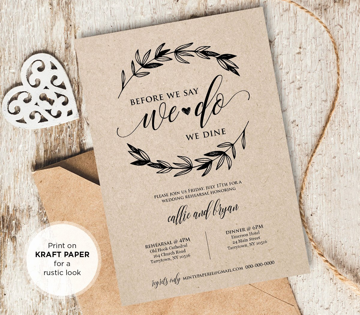 Wedding Rehearsal Dinner Invitations Template Fresh Rustic Wedding Rehearsal Invitation Instant Download