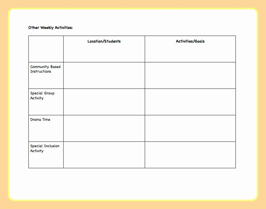Week Lesson Plan Template Awesome Fan Favorite Post Lesson Plan Template the Autism Helper