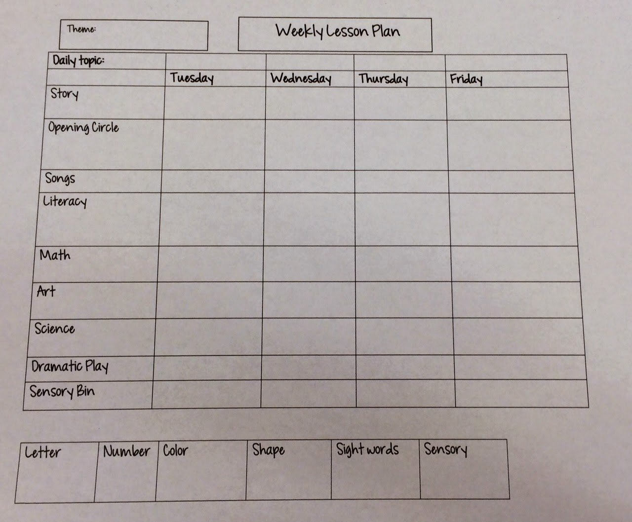 Week Lesson Plan Template Elegant Miss Nicole S Preschool Weekly Lesson Plan Template
