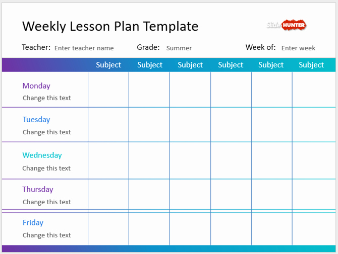 Week Lesson Plan Template Inspirational the Best Powerpoint Templates for Educational Presentations
