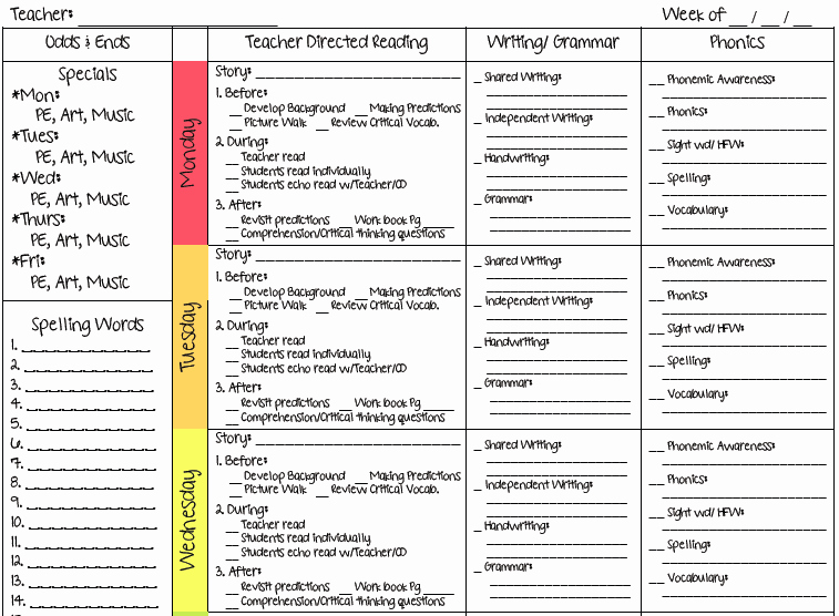 Week Lesson Plan Template Luxury Ms M S Blog 2 New Lesson Plan Templates