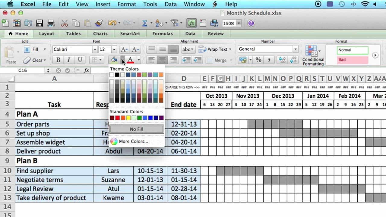 Week Schedule Template Excel Fresh How to Use A Monthly Schedule In Microsoft Excel Using