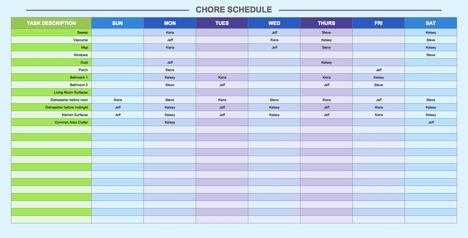 Week Schedule Template Excel New Printable Calendar Roster