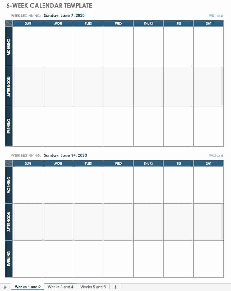 Week Schedule Template Excel Unique 15 Free Weekly Calendar Templates