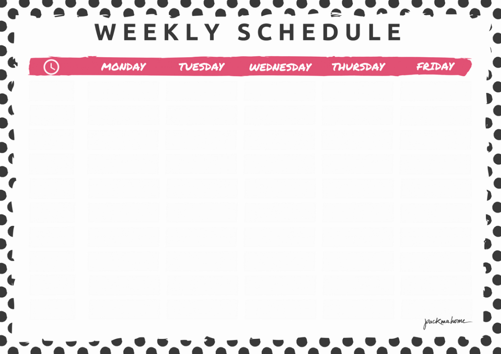 Week Time Schedule Template Fresh Big Announcement Weekly Planner & Schedule Freebies