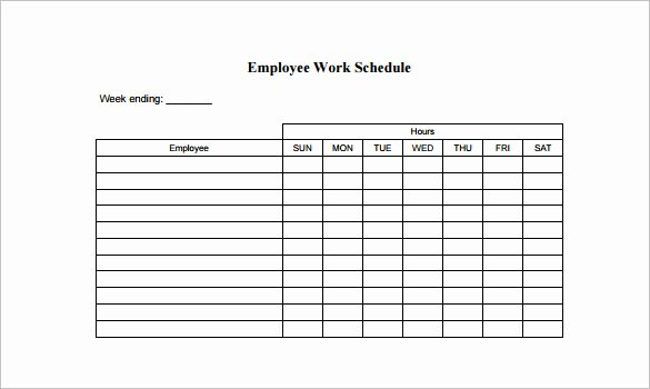 Week Work Schedule Template Awesome 18 Employee Schedule Templates Pdf Word Excel