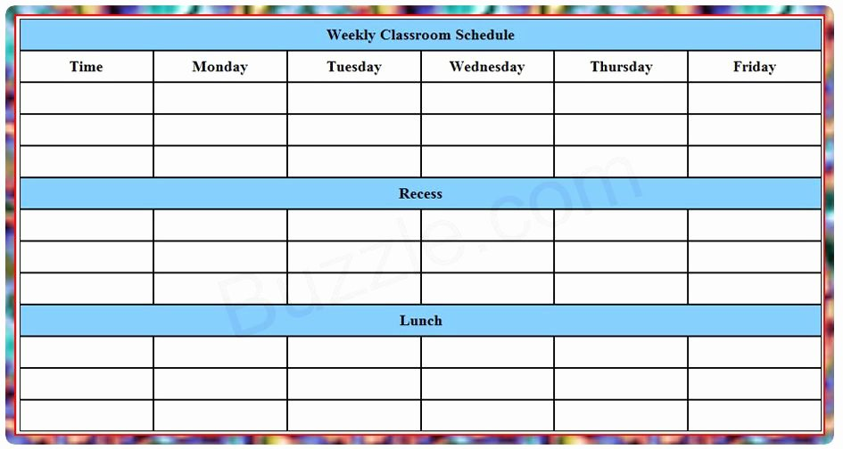 Weekly College Schedule Template Awesome Blank Weekly Class Schedule Template Sped