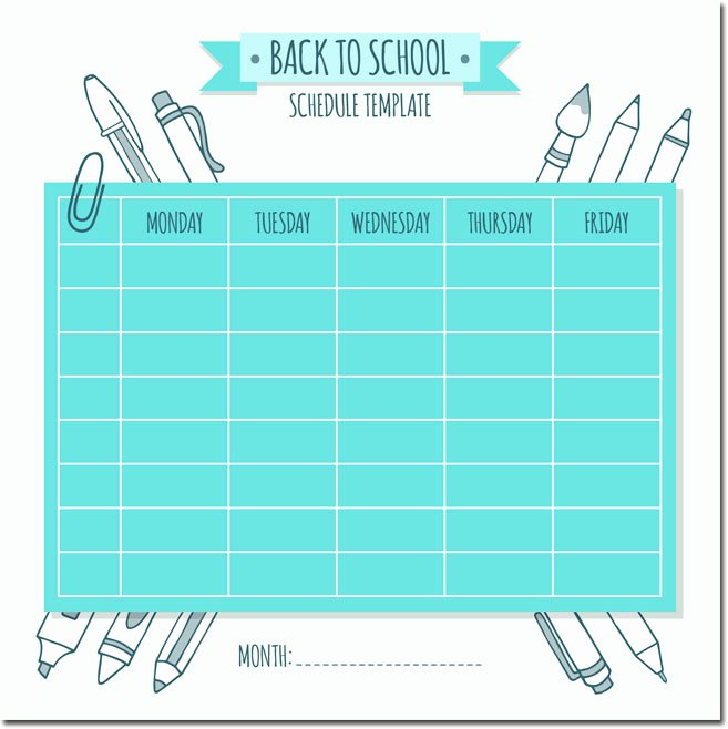 Weekly College Schedule Template Fresh 10 Students Weekly Itinerary and Schedule Templates
