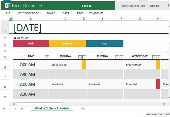 Weekly College Schedule Template Luxury How to Easily Create Class Schedules Using Excel