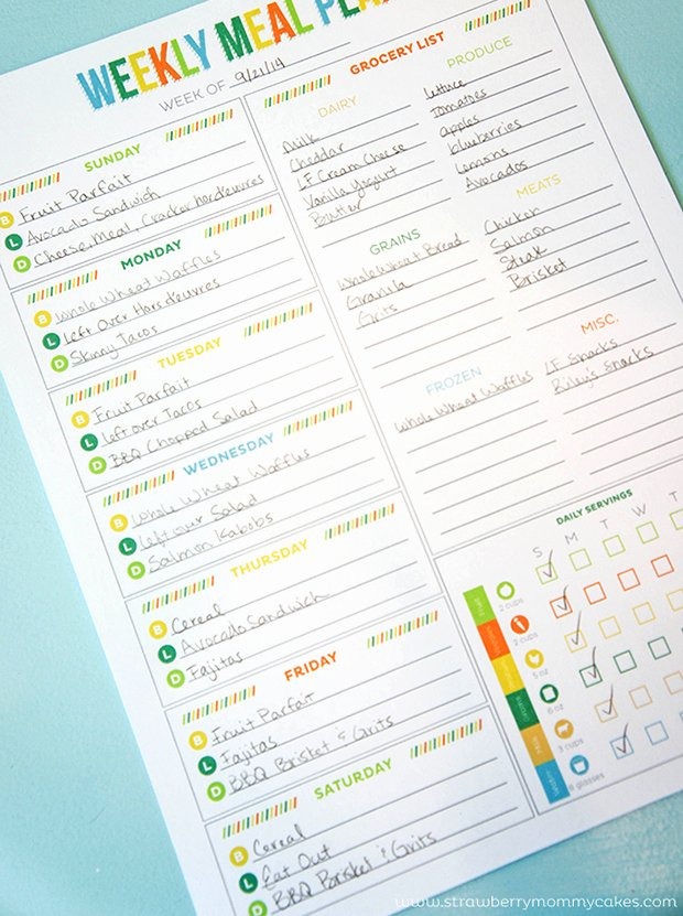 Weekly Food Planner Template Beautiful Printable Meal Planning Templates to Simplify Your Life