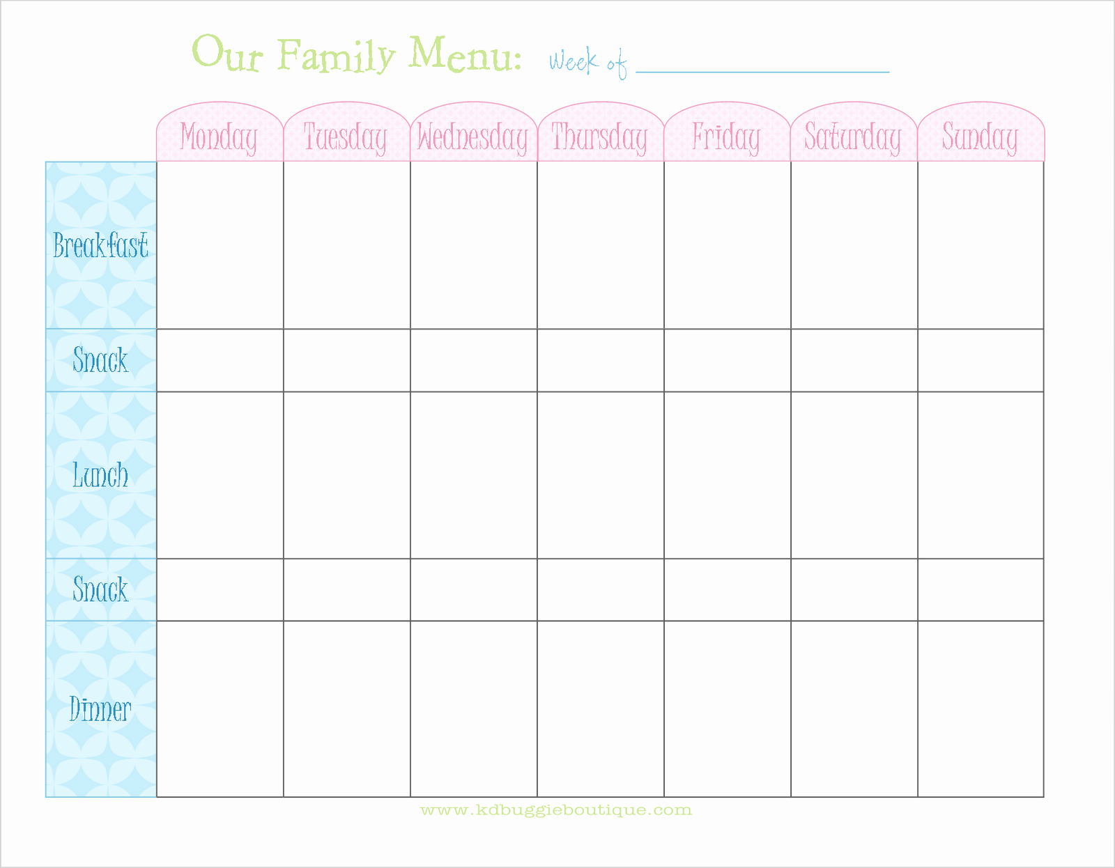 Weekly Food Planner Template Elegant Freebie Weekly Menu Planner Download Naturally Creative