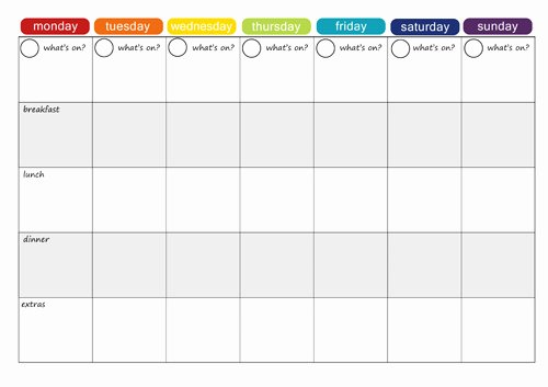 Weekly Food Planner Template Inspirational More Free Printable Menu Plans Picklebums
