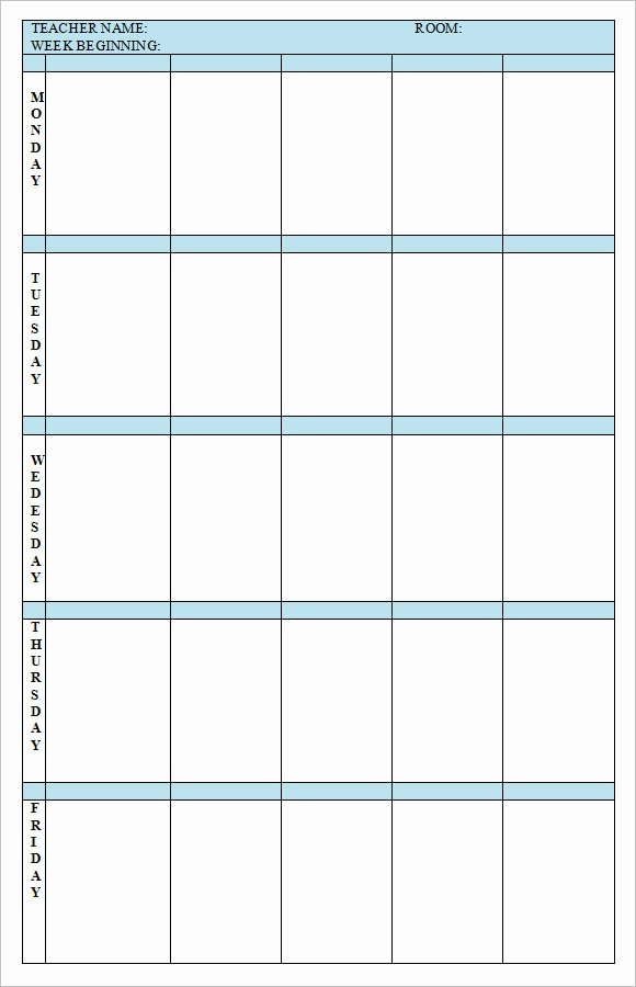 Weekly Lesson Plan Template Doc Best Of Free 8 Weekly Lesson Plan Samples In Google Docs