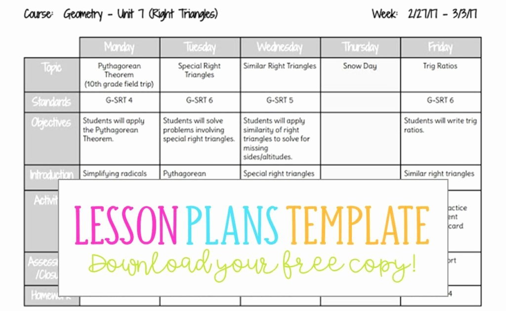 Weekly Lesson Plan Template Doc Unique Lesson Plans Template Busy Miss Beebe