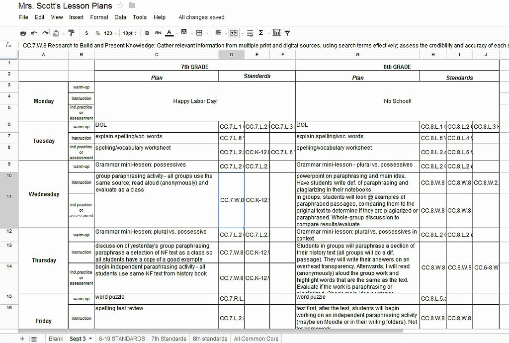 Weekly Lesson Plan Template Doc Unique Using Google Docs for Lesson Plans and Labeling the Mon