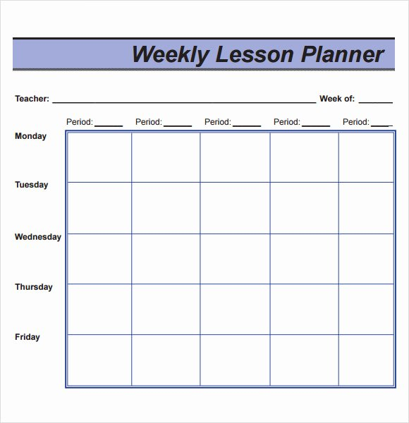 Weekly Lesson Plan Template Free Elegant Free 8 Sample Lesson Plans In Pdf
