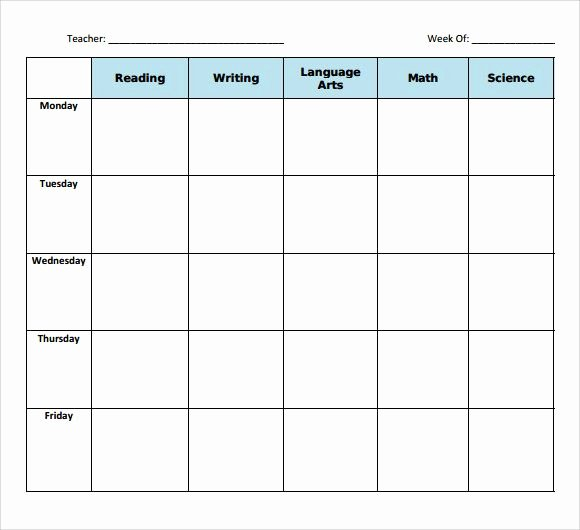 Weekly Lesson Plan Template Free Luxury Sample Blank Lesson Plan Template 10 Free Documents In Pdf
