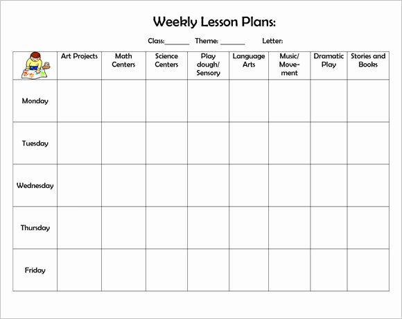 Weekly Lesson Plan Template Free New Free 8 Weekly Lesson Plan Samples In Google Docs