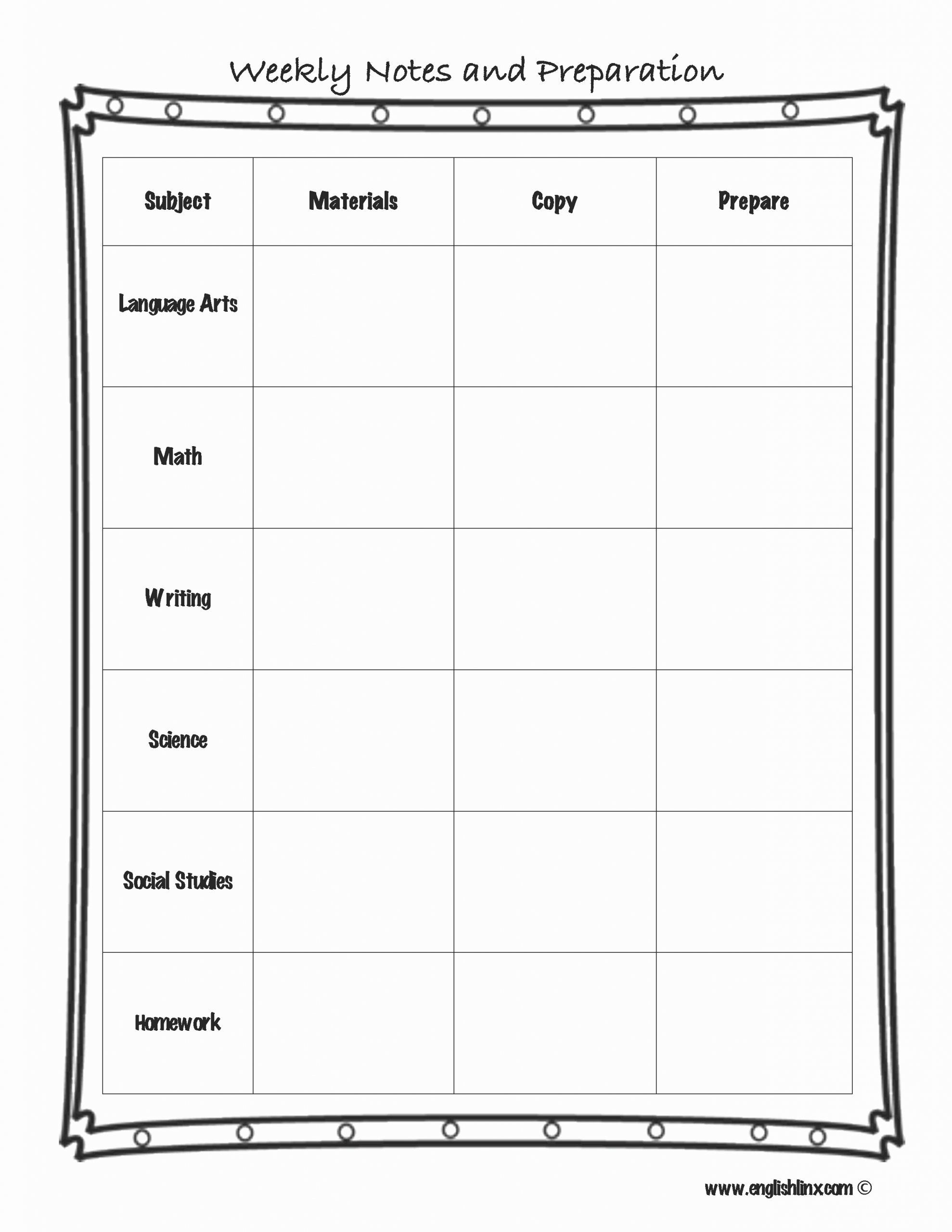 Weekly Lesson Plans Template Fresh Lesson Plan Template