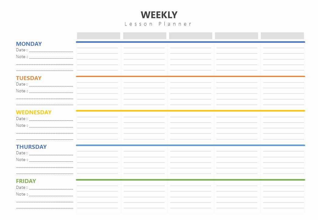 Weekly Lesson Plans Template Unique Weekly Lesson Plan Template Pslides