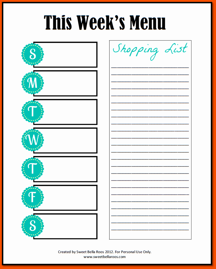 Weekly Meal Planner Template Printable Beautiful 5 Weekly Planner Templates Bookletemplate