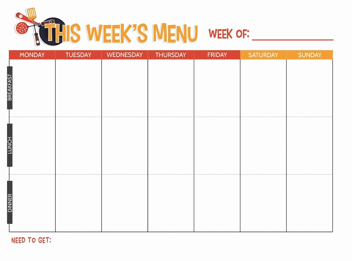 Weekly Meal Planner Template Printable Beautiful Free Printable Weekly Meal Planner Not Quite Susie