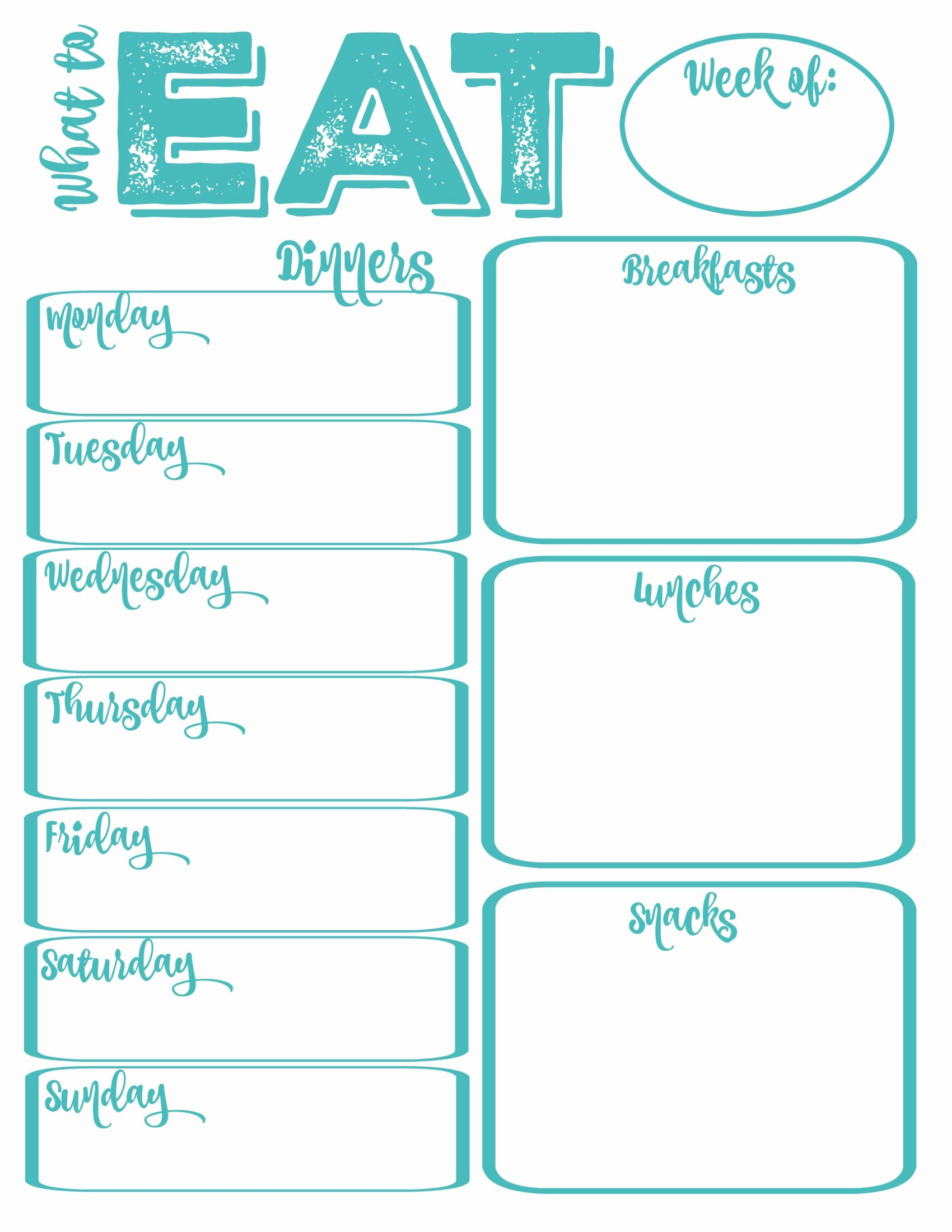 Weekly Meal Planner Template Printable Beautiful Pantry Makeover Free Printable Weekly Meal Planner and