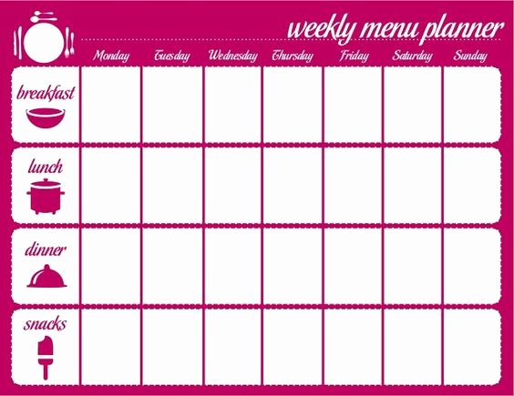 Weekly Meal Planner Template Printable Best Of 45 Printable Weekly Meal Planner Templates