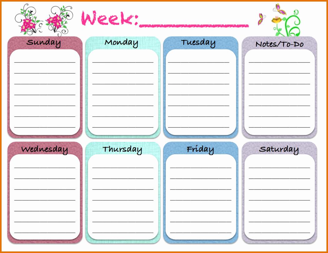 Weekly Monthly Planner Template Elegant Weekly Schedule Template Pdf