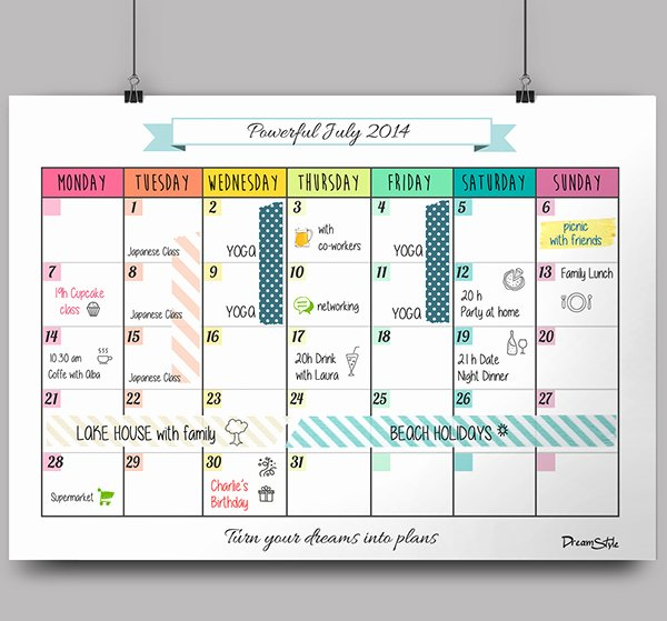 Weekly Monthly Planner Template Fresh Calendar Monthly Planner Free Printable On Behance