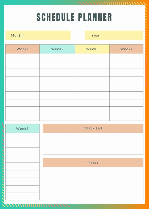 Weekly Monthly Planner Template Lovely 31 Daily Planner Templates Pdf Doc