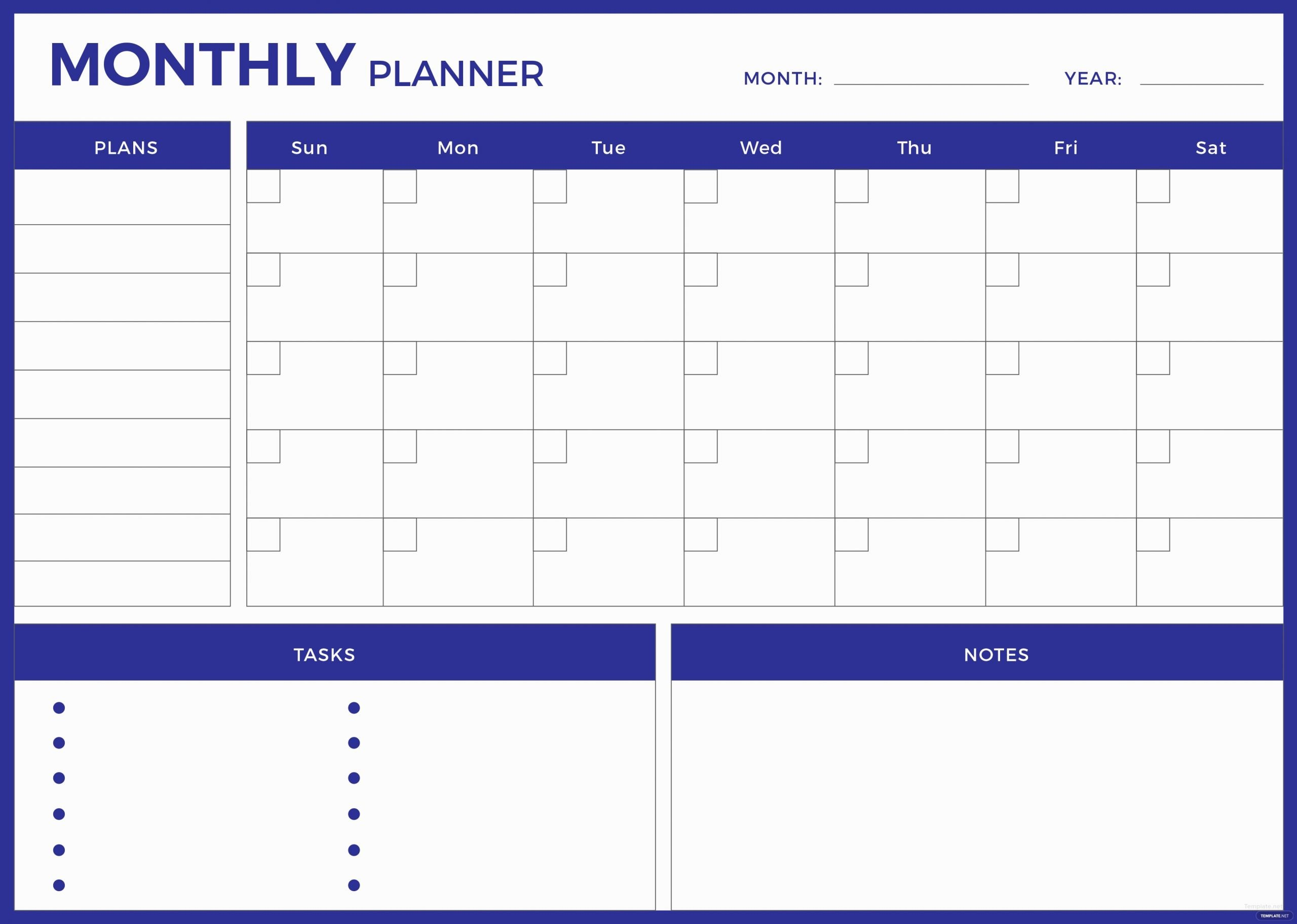 Weekly Monthly Planner Template Lovely Free Monthly Planner Template In Adobe Shop Adobe