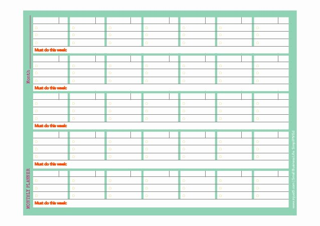 Weekly Monthly Planner Template Unique Monthly and Weekly Planner Template for Small Business
