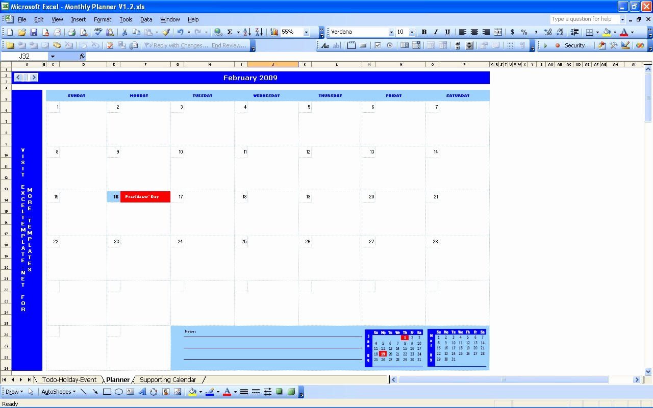 Weekly Planner Template Excel Awesome Monthly Planner