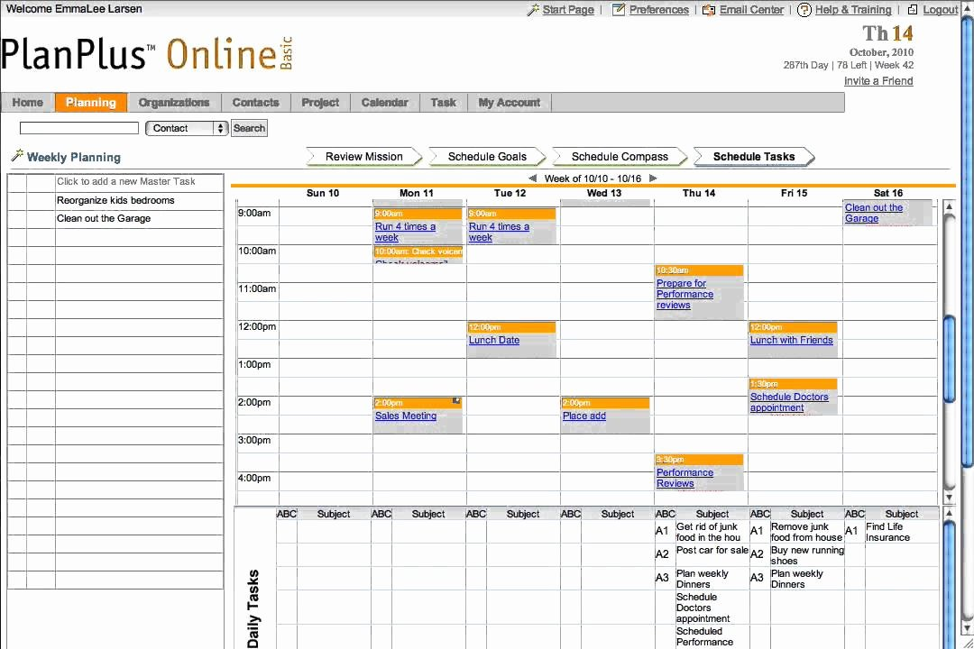 Weekly Schedule Planner Template Inspirational Planplus™ Schedule Weekly Tasks Planning software by