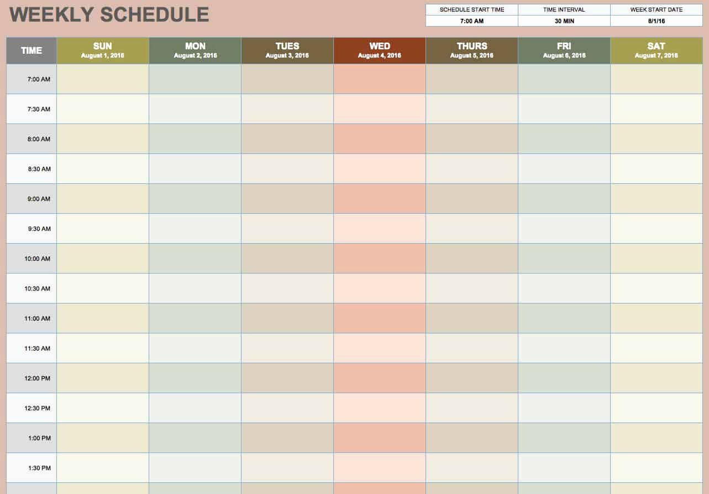 Weekly Schedule Planner Template Lovely Free Blank Calendar Templates Smartsheet