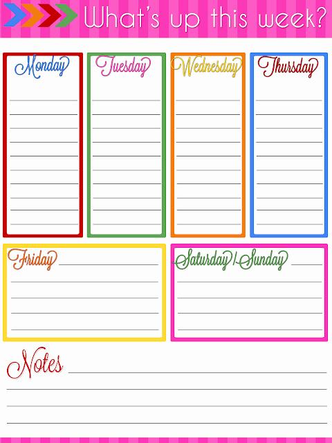 Weekly Schedule Planner Template Lovely Ultimate Planner Notebook Add Weekly Planner Printable