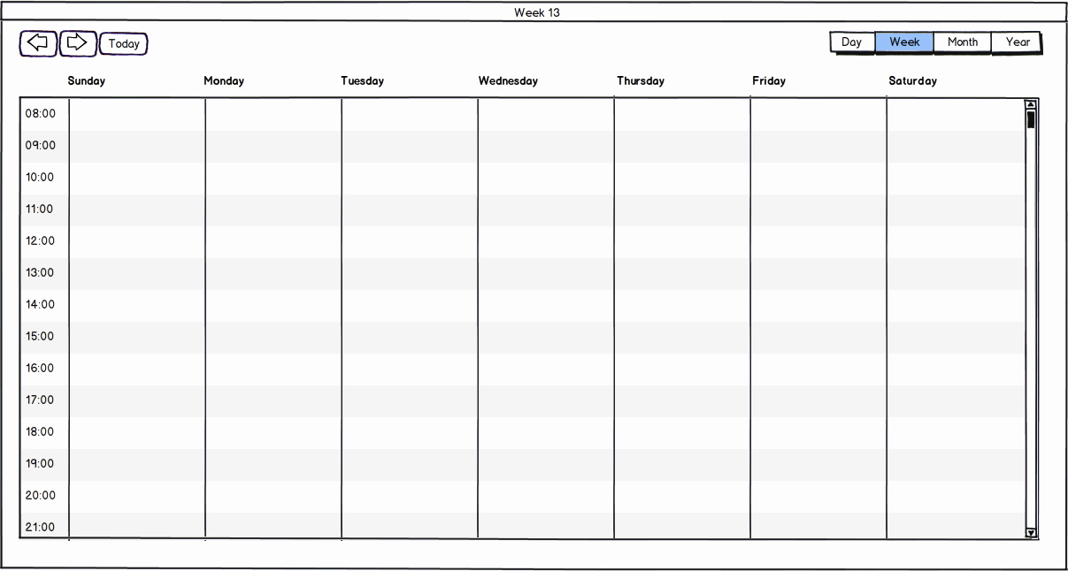 Weekly Schedule Template with Hours Fresh Display Hours In Week View · issue 323 · Mattlewis92