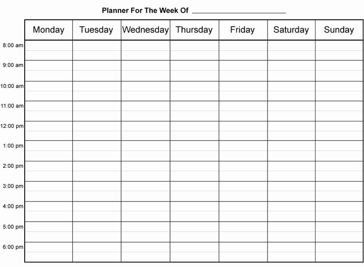Weekly Schedule Template with Hours Unique Free Printable Weekly Appointment Sheets
