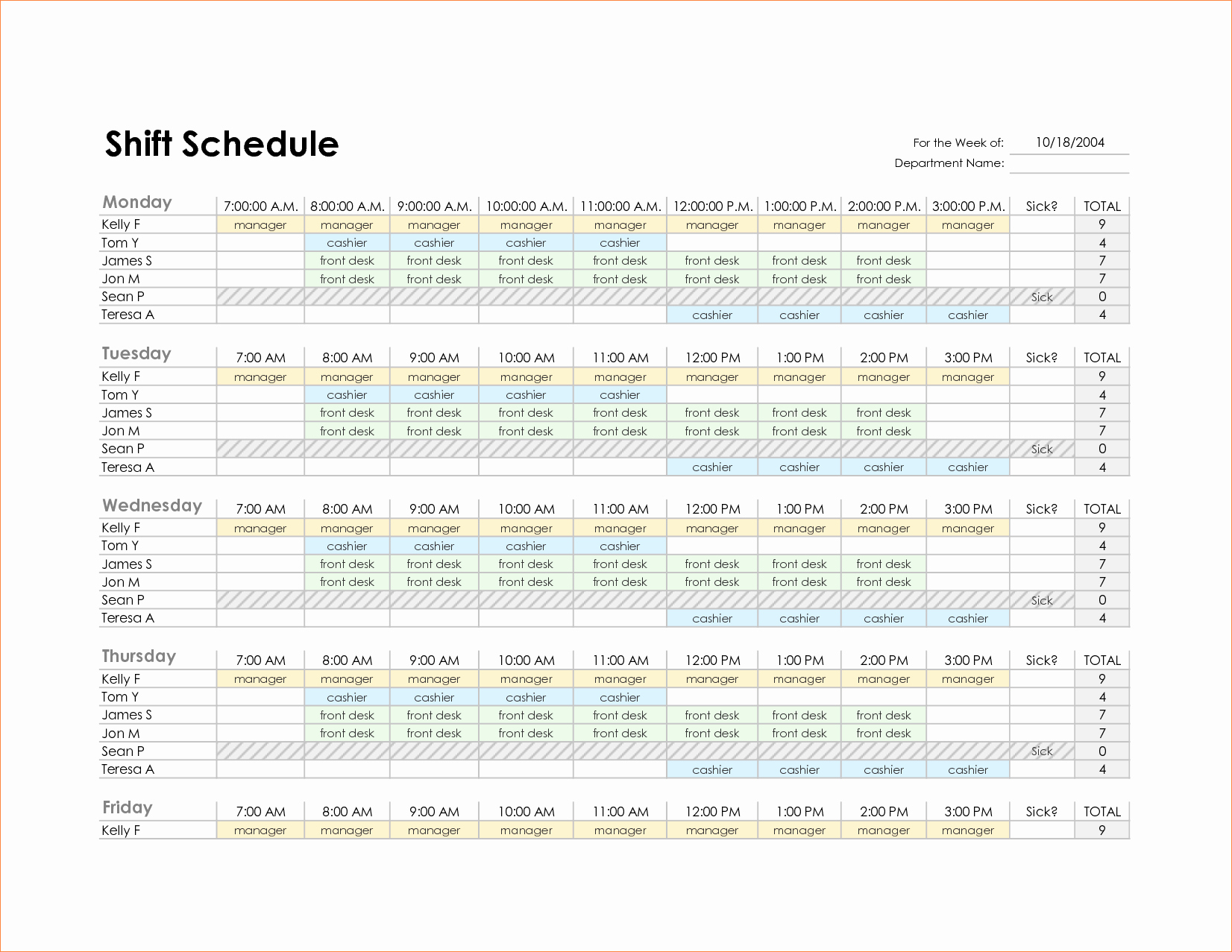 Weekly Staffing Schedule Template Best Of Monthly Employee Schedule Template Excel