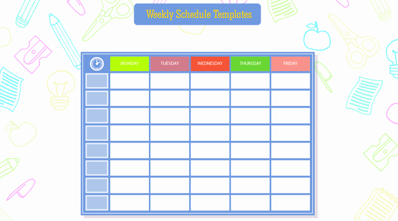 Weekly Study Schedule Template Fresh 10 Students Weekly Itinerary and Schedule Templates