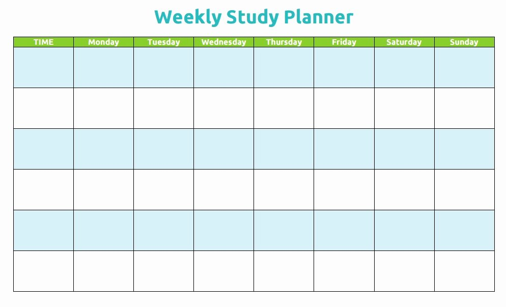 Weekly Study Schedule Template Lovely Study Schedule Template 5 Free Templates Schedule