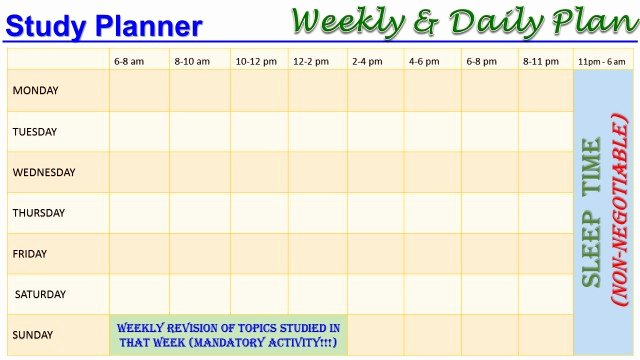 Weekly Study Schedule Template Luxury Study Planner Driverlayer Search Engine