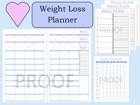 Weight Loss Meal Planner Template Awesome tone It Up Journal Weight Loss Planner Weight Loss Tracker