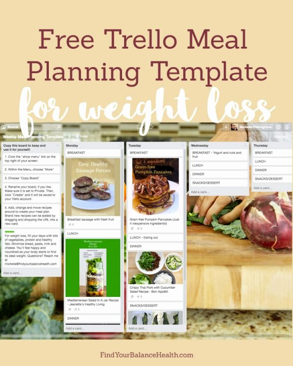 Weight Loss Meal Planner Template Elegant Get My Free Trello Board for Meal Planning & Weight Loss